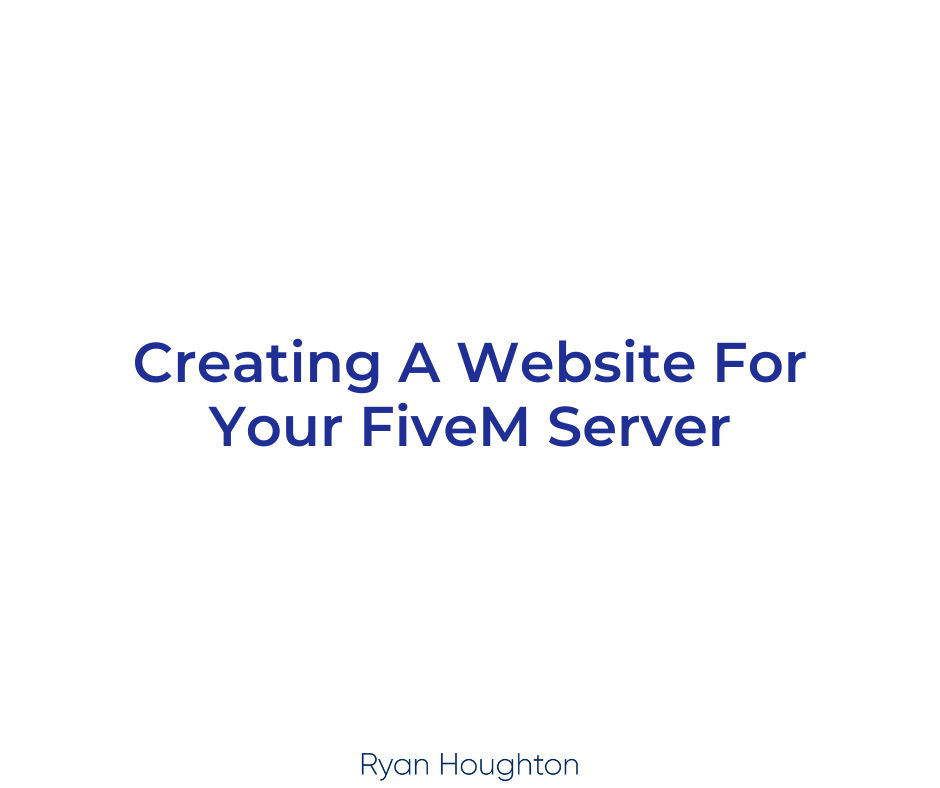 Creating A Website For Your FiveM Server