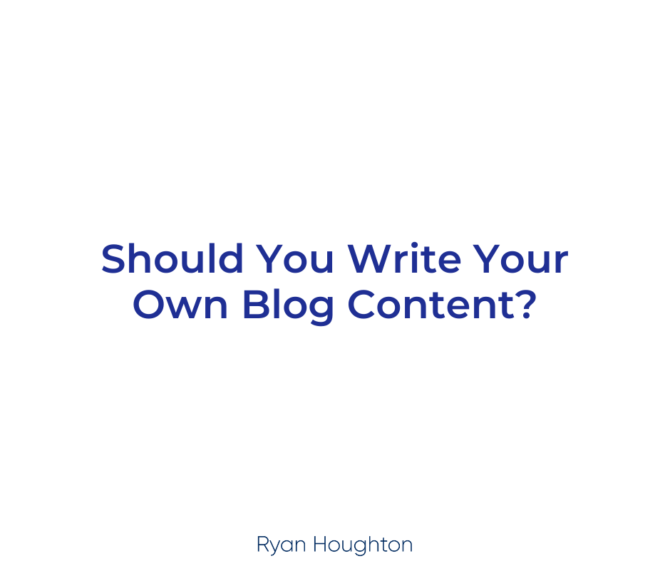 Should You Write Your Own Blog Content
